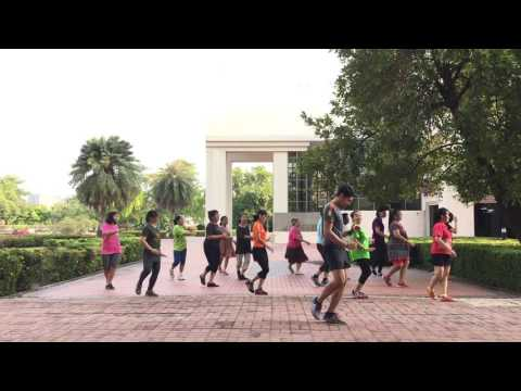 Line Dance : ชมรมไลน์แดนซ์ มสธ. เพลงคิดถึงบ้านเกิด By ครูฟิก
