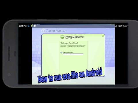 how do you open exe files on android tablet