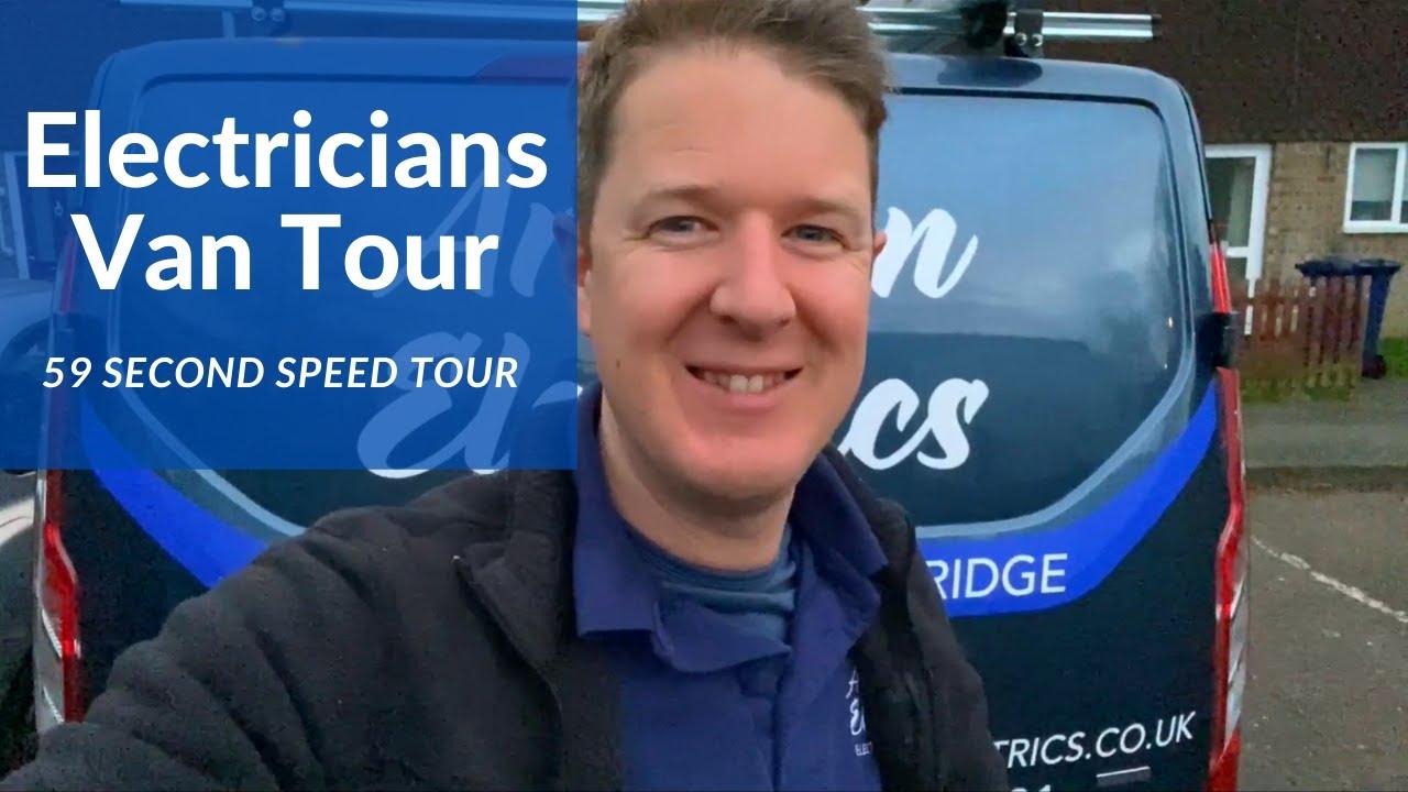 Electricians Van Tour in 60 Seconds #shorts