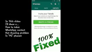 Whatsapp Contacts Not Showing 100% fix 2017 | Whatsapp contact problem solution