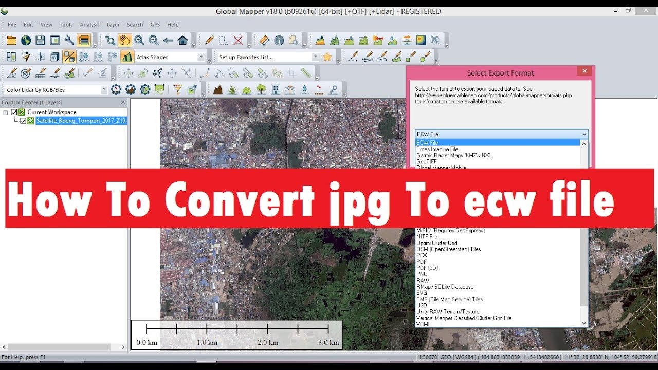 How To Convert jpg To ecw file in Golble Mapper   Convert jpg To ecw
