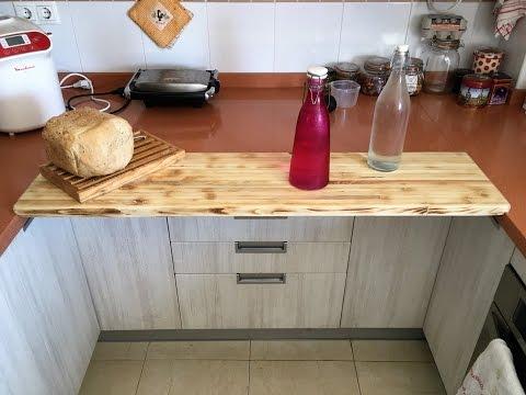 Construyendo cocina de 4 metros doovi for Encimera auxiliar cocina