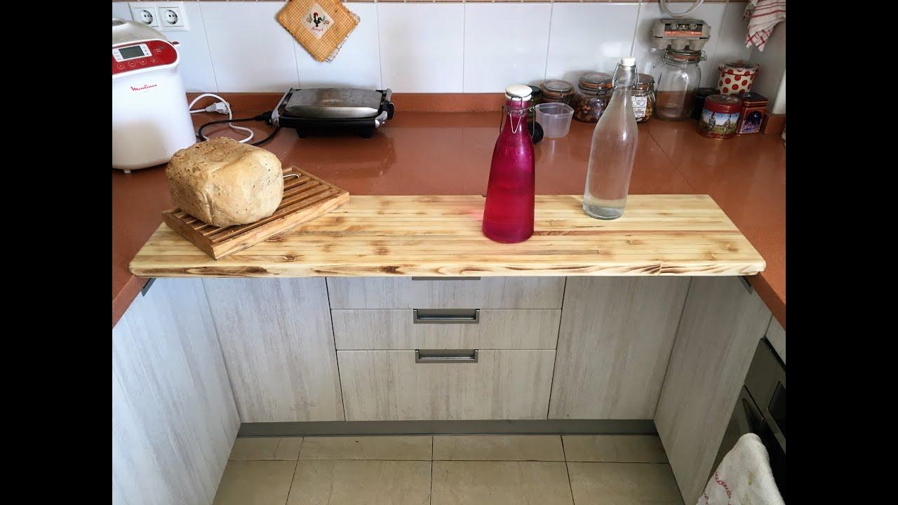 C mo hacer un desayunador diy breakfast bar encimera for Como hacer una barra de cocina