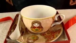 Чайная пара Матрешки | Рос-Арт