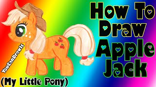 How To Draw AppleJack from My Little Pony ✎ YouCanDrawIt ツ 1080p HD MLP