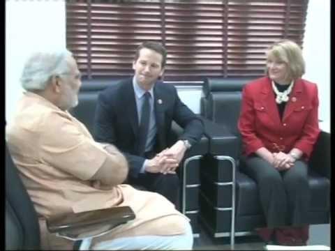 American Congress representatives meet Gujarat Chief Minister Narendra Modi