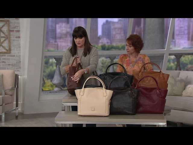 Dooney & Bourke Florentine Leather Kirsten Tote on QVC