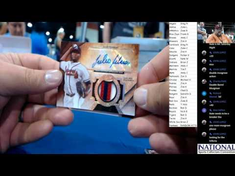 Trout All Star Patch! Live from the National! 2017 Topps Tier One Baseball Case Break #23 7 28 2017