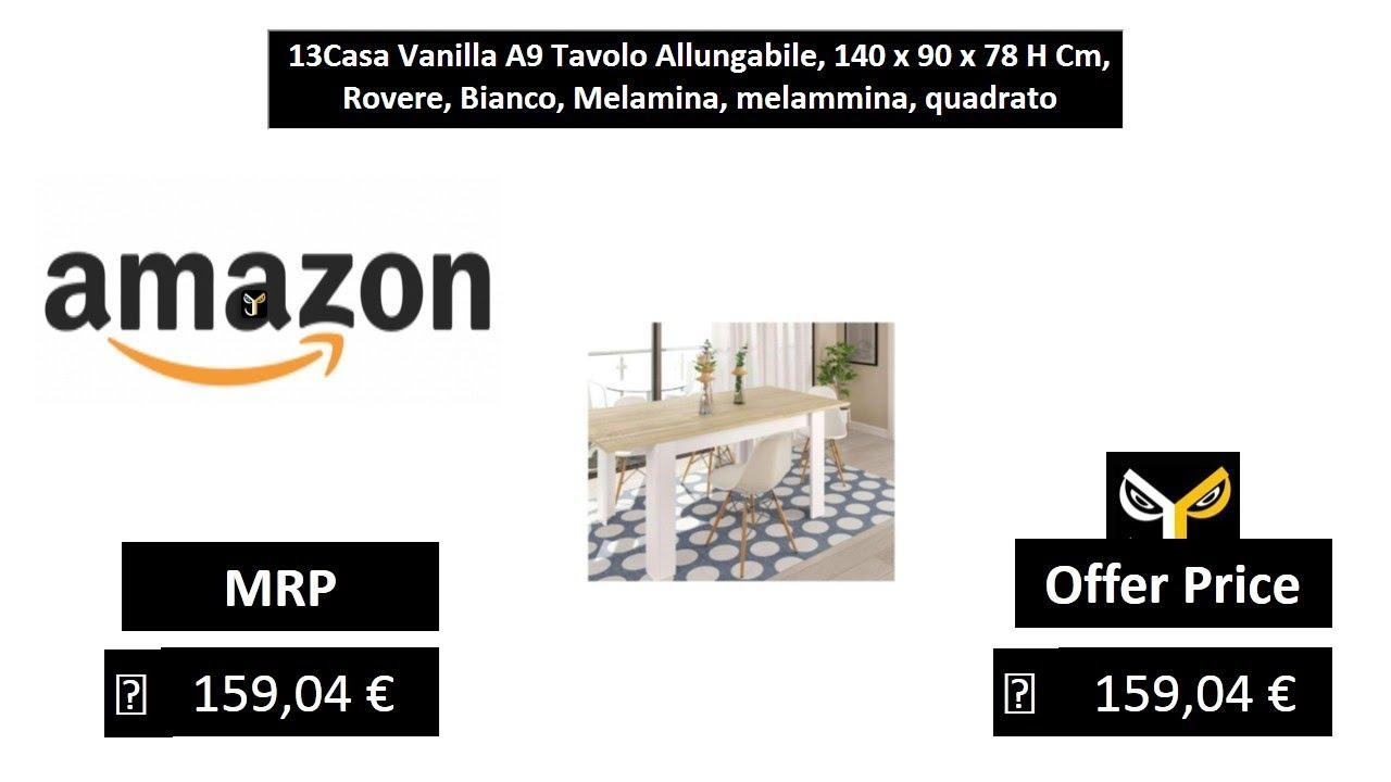 Tavolo Allungabile 140 X 140.13casa Vanilla A9 Tavolo Allungabile 140 X 90 X 78 H Cm Rovere
