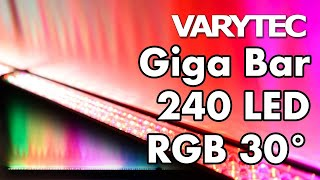Varytec Giga Bar 240 LED RGB 30° is drawing the line between light and dark