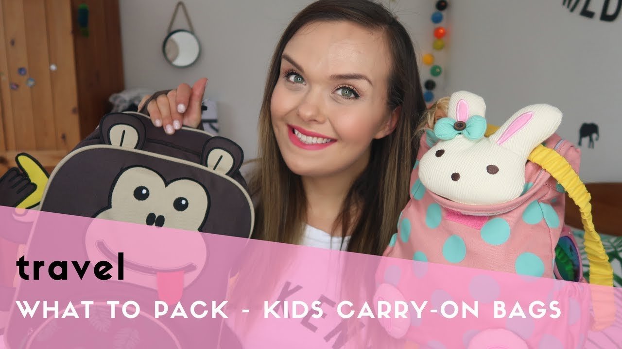 WHAT TO PACK ON A FLIGHT WITH KIDS  KIDS CARRY ON BAG - YouTube 7f9e96c53e8ab