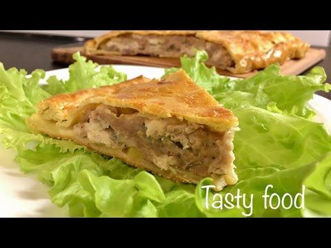 Пирог с грибами и картофелем рецепт с фото на Поварру