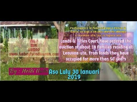TALA MAI SAMOA aso Lulu 30 Ianuari 2019 (audio only)