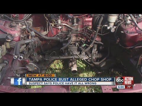 Police: Tampa 'chop shop' stripped down Hondas