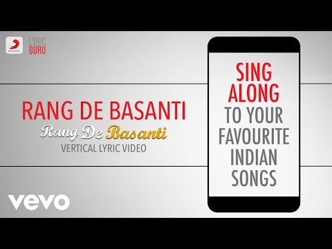 Rang De Basanti - Official Bollywood Lyrics|Chitra|Daler Mehndi|A.R