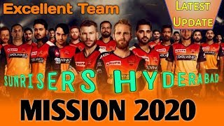 Sunrisers Hyderabad Full & Final Squad | Vivo IPL 2020 player action | SRH team Players list _ T20