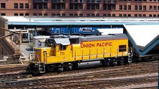 2018/08/21 【シカゴ メトラ】 回送列車? UPY711号機 シカゴOTC駅