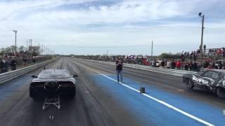 No Prep Finals at Kansas International Dragway 4-11-2015 Henson Racing vs Reaper SS