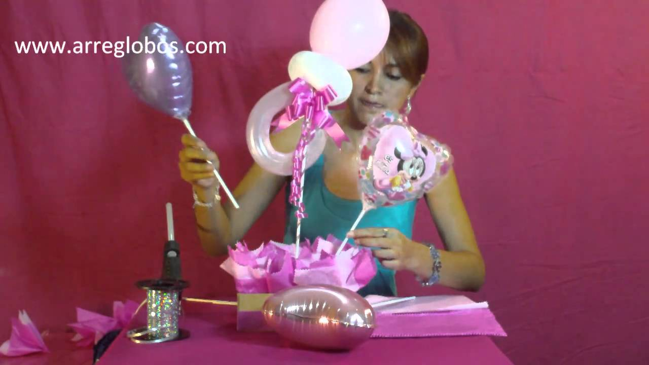 Decoracion Baby Shower Varon ~ Centro de mesa Baby Shower www arreglobos com  YouTube