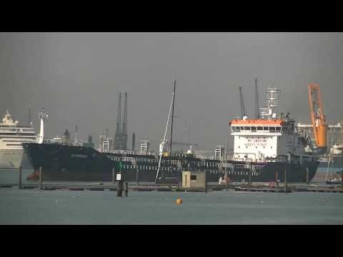 Bunkering Ship 'LS Christine' & 'TH Vessel Patricia' Southampton 24th September 2013