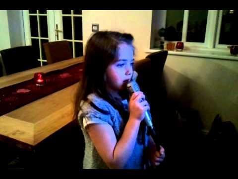 Darcey singing karaoke