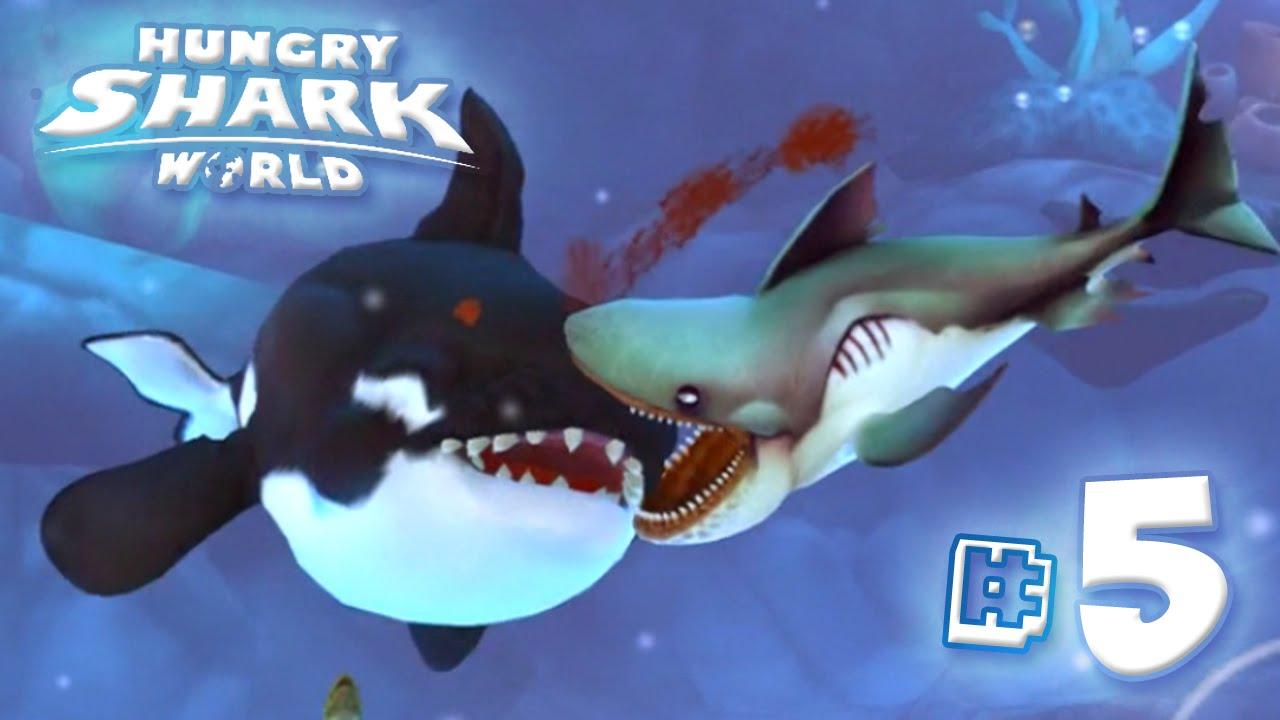 megamouth shark vs killer whale - hungry shark world | ep5 hd