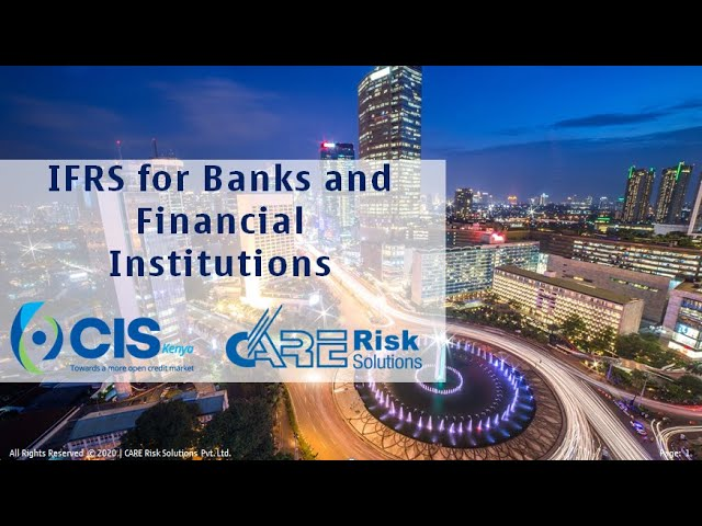 COVID-19 AND IFRS 9 WEBINAR FOR BANKS AND FINANCIAL INSTITUTIONS