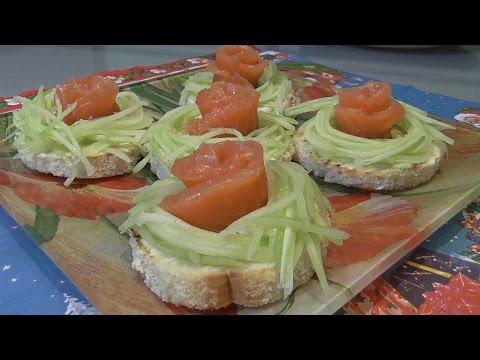 Бутерброды с семгой рецепт