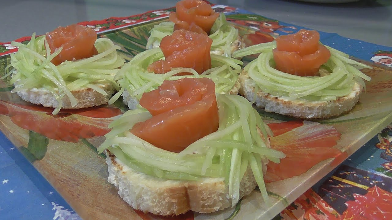 бутерброды семгой рецепт фото