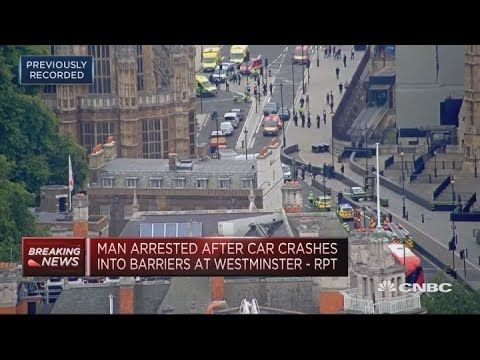Man arrested after car crashes into barriers at Westminster | In The News