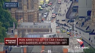 Man arrested after car crashes into barriers at Westminster | In The News thumbnail