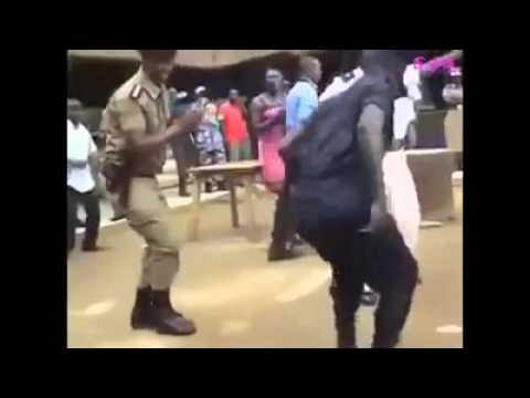 Uganda police dancing the stress away