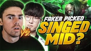 FAKER PICKED SINGED MID AGAINST ME AND THIS HAPPENED....