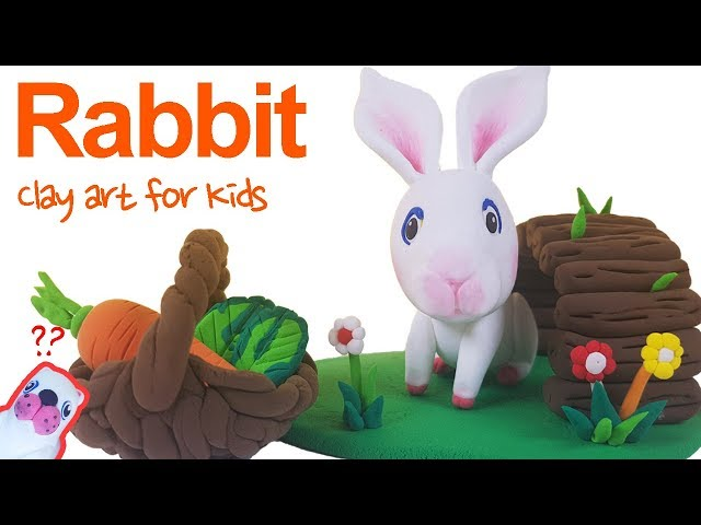 Farm animals #7 | Clay Rabbit For Kids | How To Make A Clay Rabbit | Clay modeling