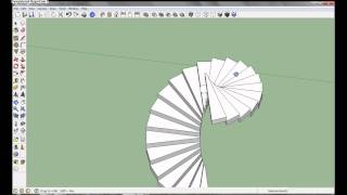 Google SketchUp Pro 8 - Spiral Staircase Tutorial