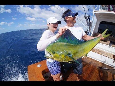 Girlfriends in Miami Fishing for Mahi Mahi with Peter Miller