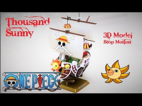 One Piece - Thousand Sunny Ship Model - Stop-Motion Building