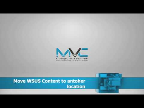 Move WSUS Content | Turtorial | How To