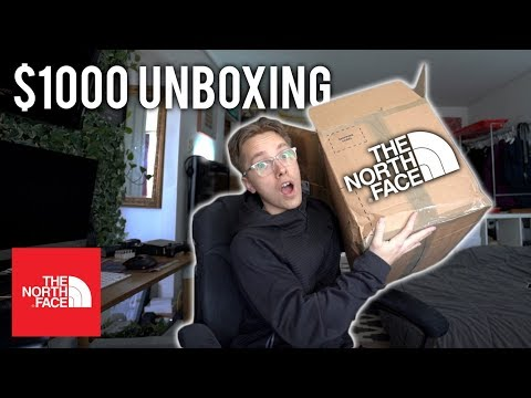 $1000 THE NORTH FACE UNBOXING
