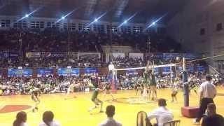141028 unigames volleyball finals w dlsu nu set 2 6