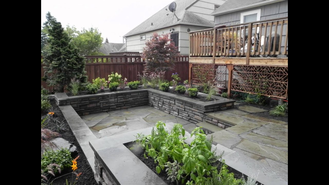 Landscaping ideas for a small space youtube for Small garden landscape designs