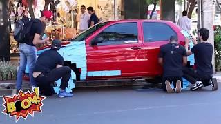 Post It - handicapped parking prank