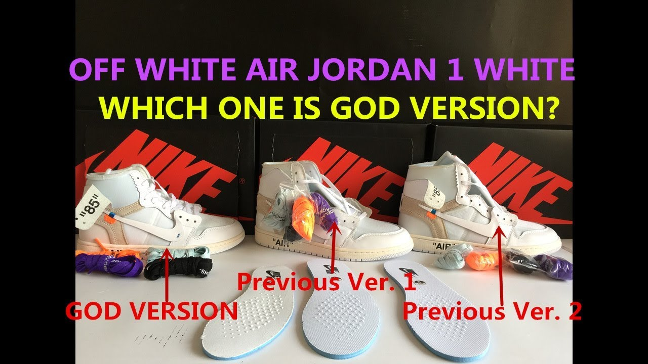 8ee421bf200753 Real VS Fake Off White Air Jordan 1 White Comparison 3 Versions Off White x Air  Jordan 1 White
