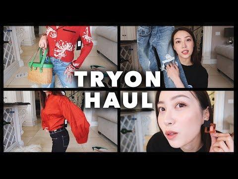 新服饰上身啦 EP1 ❤️新牛仔裤新裙🐔 l everlane l shopbop l revolve l netaporter...Clothing Try On Haul