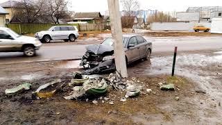 Авария в Твери на ул.Хромова в районе дома 21