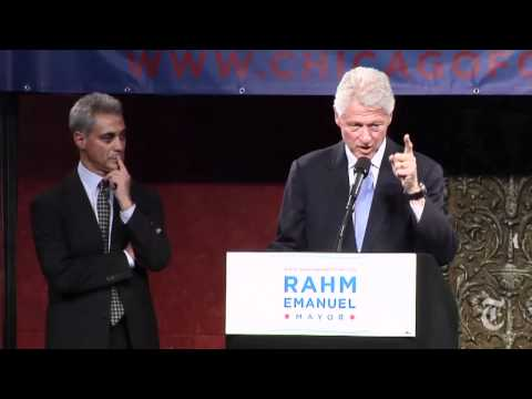 Politics: Bill Clinton Campaigns for Rahm Emanuel - nytimes.com/video