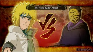 Naruto Ultimate Ninja Storm 3 Hokage vs Nine Tails and Tobi S-Rank Legend (English)