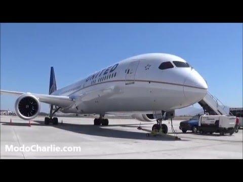Visita al Boeing 787-9 Dreamliner United N45956 en Santiago de Chile