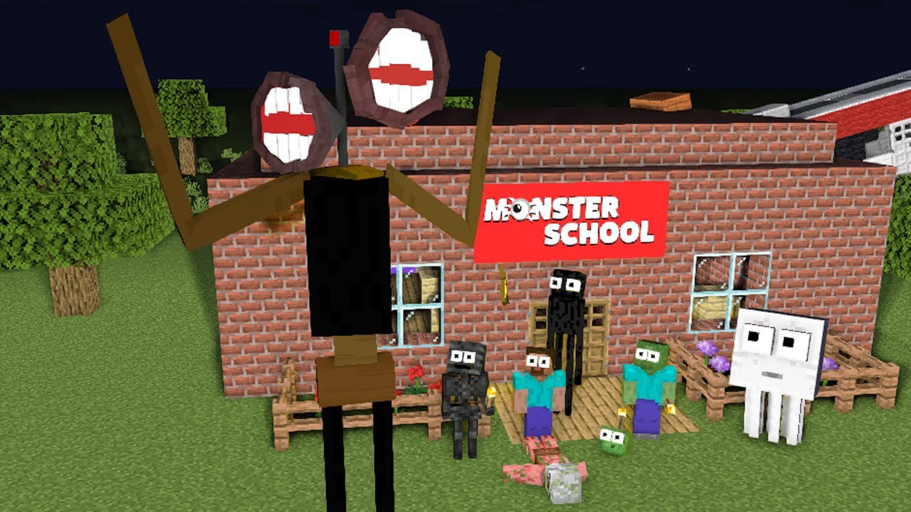 Monster School : SIREN HEAD Challenge #3 - Minecraft Animation