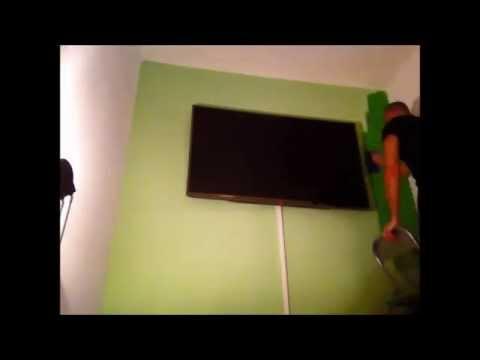 Die Wand grün streichen - Schnellwiedergabe - YouTube